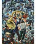 VYACHESLAV KALININ RUSSIAN B1939 Surrealist Concert