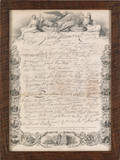 JW Allen print  Facsimile of the signatures to the Declaration of Independence