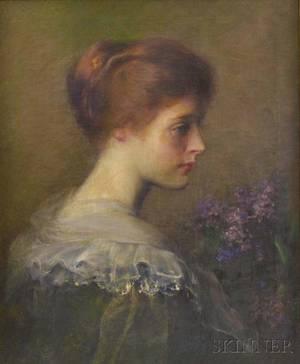 Carle John Blenner American 18621952 Lilacs Profile of a Woman