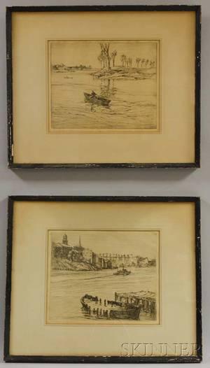 Charles Herbert Woodbury American 18641940 Two Water Scenes