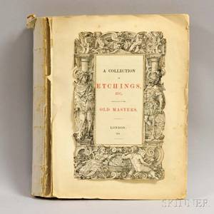 British School 19th Century Book A collection of Etchings Etc principally by the Old Masters