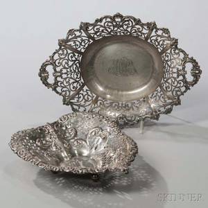 Two American Sterling Silver Reticulated Dishes