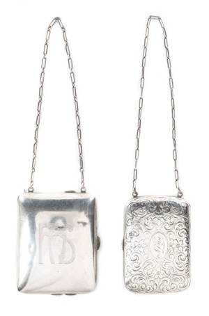 Group of 2 Sterling Silver Ladies Coin Purses