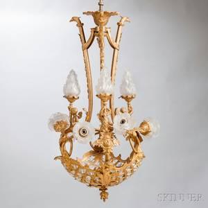 Louis XVstyle Giltbronze Twelvelight Chandelier