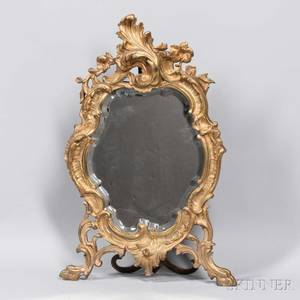 Rococostyle Giltbronze Table Mirror