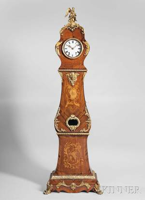 Louis XVstyle Bronzemounted Marquetry Tall Case Clock