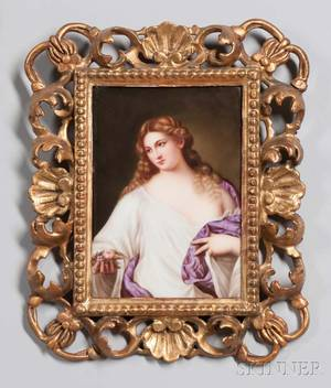 KPM Porcelain Plaque of a Young Classical Maiden