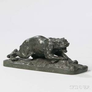 After PierreJules Mene French 18101879 Bronze Model of a Panther