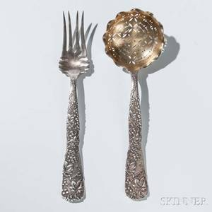 Two Tiffany  Co Vine Pattern Sterling Silver Serving Pieces