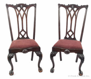 Pair of Centennial mahogany dining chairs