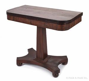 Classical mahogany card table