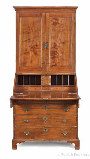 MidAtlantic Chippendale walnut secretary desk