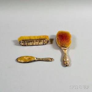English Sterling Silver Threepiece Vanity Set