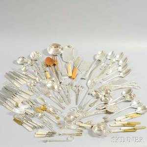 Group of Silverplated Flatware