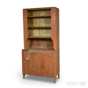 Redpainted Pine Cupboard