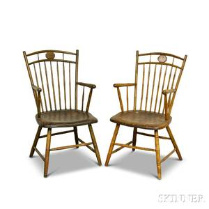 Pair of Rodback Windsor Armchairs