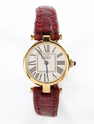 Ladies Vintage Must de Cartier Watch Gold Vermeil