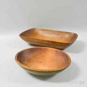 Turned and Carved Maple Bowl and Trencher