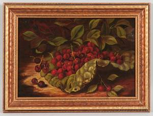 Attributed to Carducius Plantagenet Ream IllinoisOhio 18371917 Still Life with Cherries
