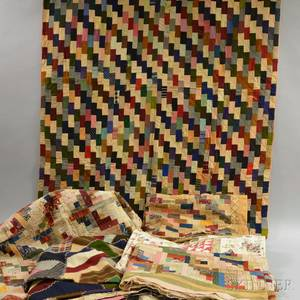 Group of Patchwork Geometric Quilts