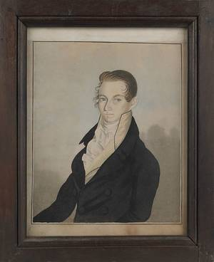 American watercolor portrait of a gentleman ca 1820