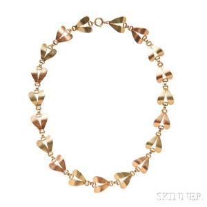 Retro 14kt Bicolor Gold Necklace Tiffany  Co