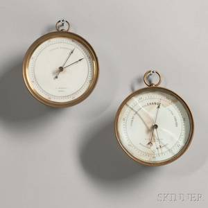 Two Brasscased Barometers by Kendall and Thaxter