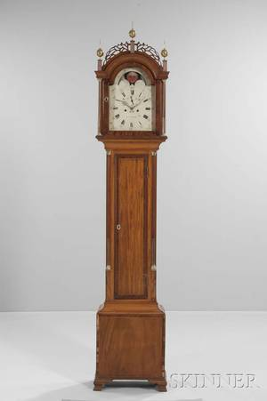 Maurice OConnell Inlaid Mahogany Tall Clock