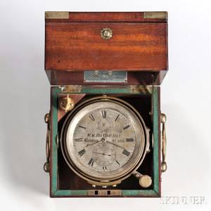 William Bond  Son Twoday Marine Chronometer