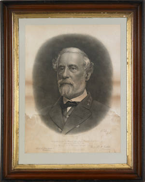 WW Bostwick  Co lithograph of General Robert E Lee
