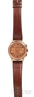 Baume  Mercier 18kt Gold Chronograph Wristwatch