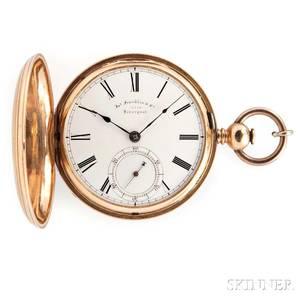 Franklin  Co 18kt Gold Hunter Case Watch