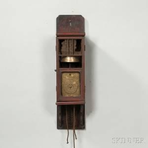 Japanese Lantern Clock and Wall Bracket