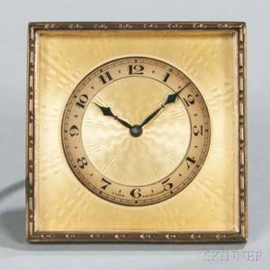 Swiss Enameled Desk Clock