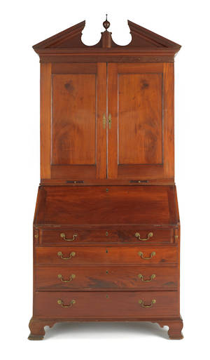 Philadelphia Chippendale mahogany secretary desk