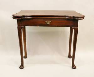 Sm 19th C English Mahogany Game Table