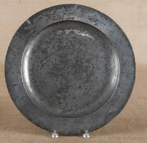 English pewter charger