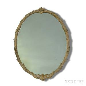 Pair of Frenchstyle Carved and Gilt Mirrors