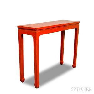 Chinesestyle Redlacquered Altar Table