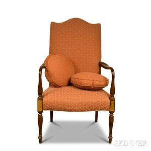 Federalstyle Mahogany Lolling Chair