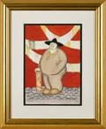 Gouache portrait of a man