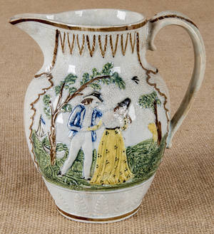Two Prattware pitchers 19th c