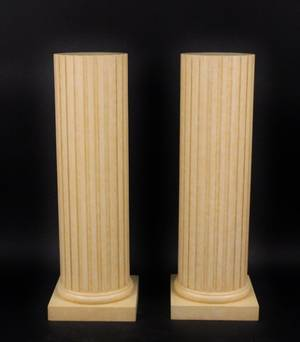Pair of Fluted Column Floor Pedestals