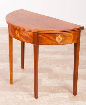 American Federal Demilune Game Table