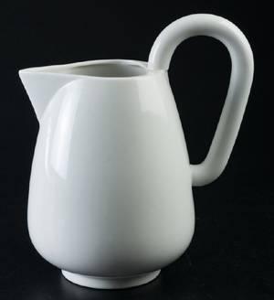 Danish Style White Glazed Ceramic Pitcher