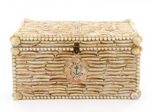 Custom Made Seashell Trunk 20th Century