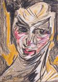 Stanislaw Witkacy 1930 Portrait Mixed Media