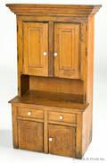 Miniature pine stepback cupboard