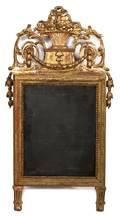 An Italian Louis XVI Style Giltwood Mirror