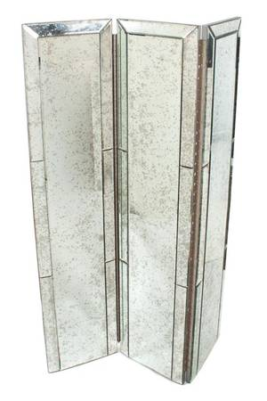 An Art Deco ThreePanel Mirrored Floor Screen